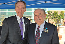 Photo of Chancellor Luskin with California Community Colleges Chancellor Brice Harris